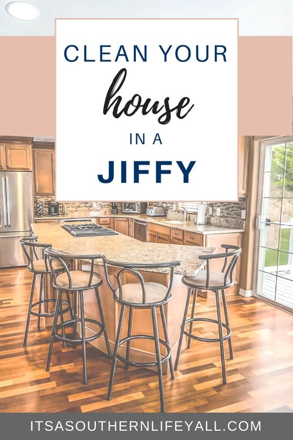 Clean your house in a jiffy using these easy tips to make house cleaning fast.