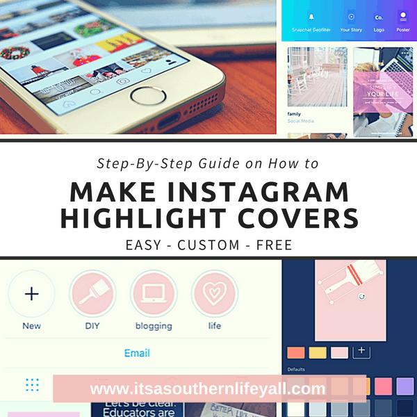 Make Your Own Easy Custom Instagram Highlight Covers