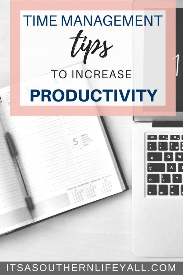 Time management tips to increase productivity. Use time blocking to boost your productivity and get more done in a day!