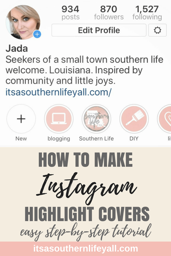 Instagram profile showing highlight covers for archived stories with text overlay - Stop Using Alt Tags for Pinterest Pin Descriptions
