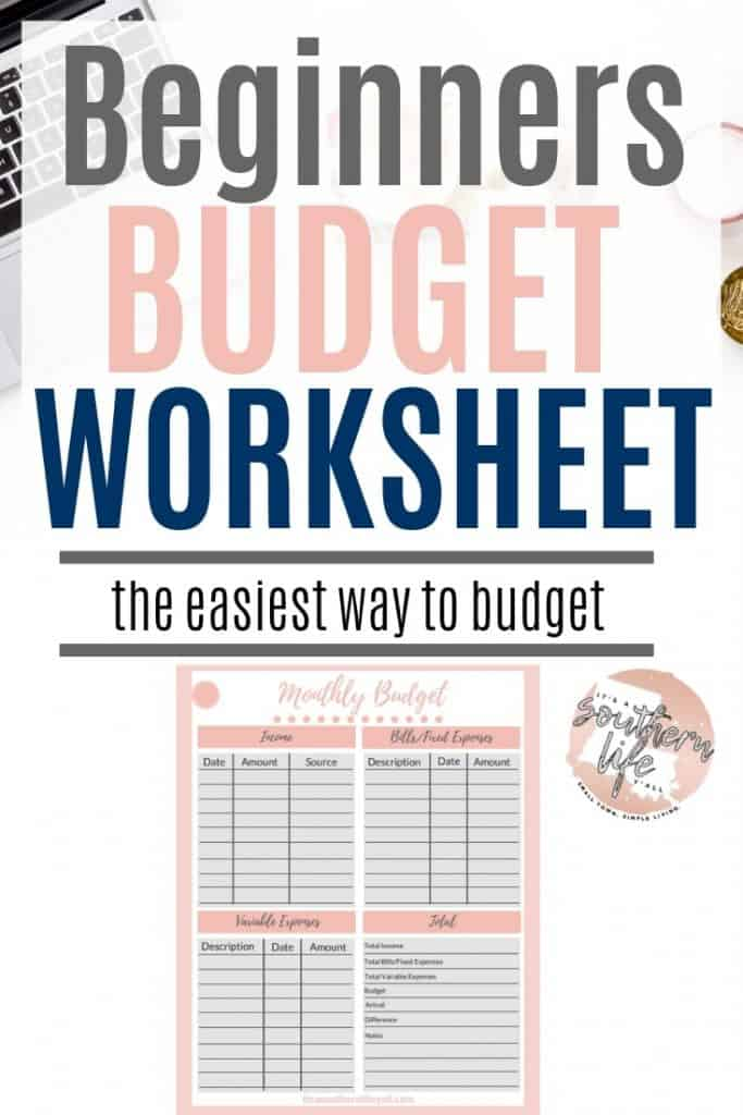 Budgeting is easier than you think when you use this beginners budget worksheet free printable. Take control of your finances with the easiest way to budget.