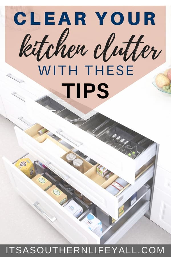 Clear your kitchen clutter with these tips. Kitchen organization comes easy when you declutter your counters.