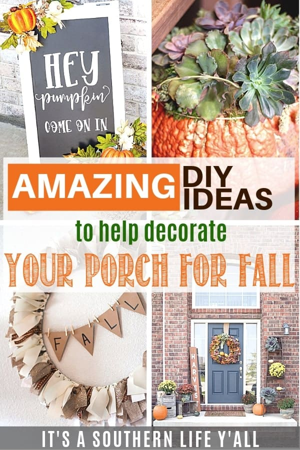 Amazing DIY Ideas to Help Decorate Your Porch for Fall