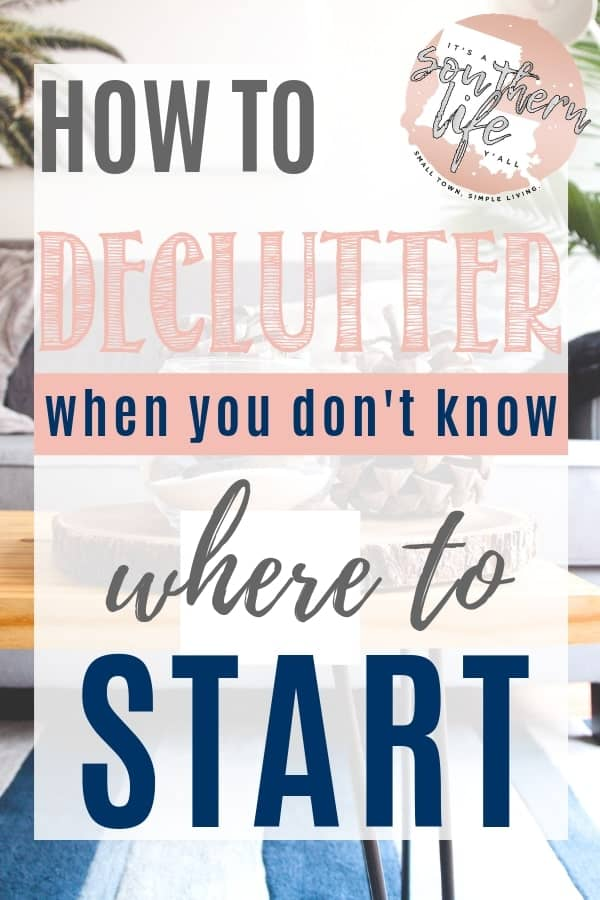 Tips on how to declutter when you aren't sure where to start. Organizing and decluttering tips for the home start when you ask yourself these questions.