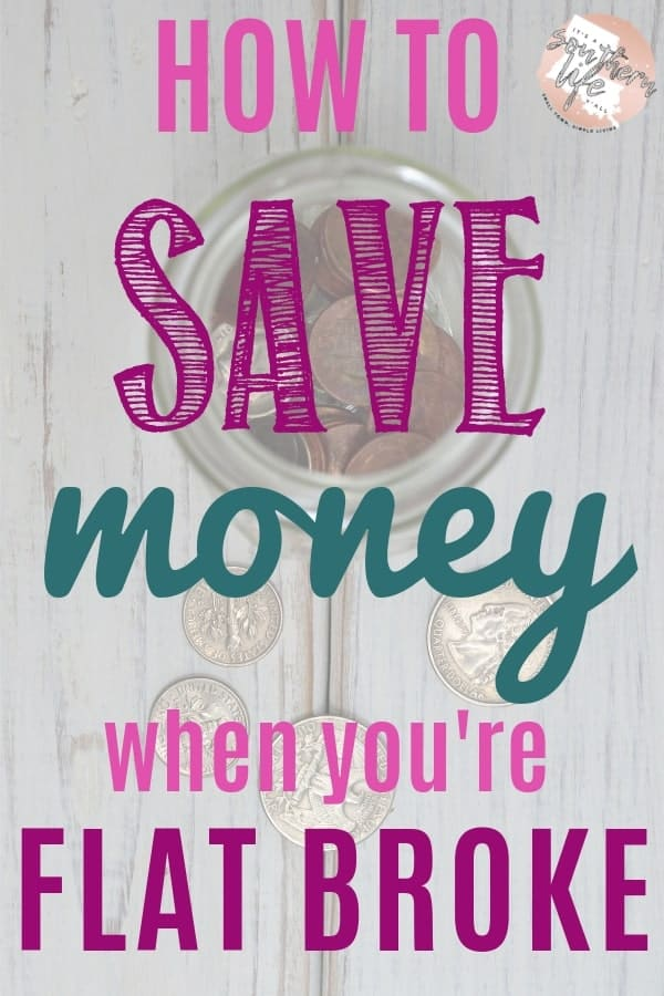 Saving money and budgeting is really hard when you are are flat broke. Find tips here to help you find extra cash in your extremely tight budget.