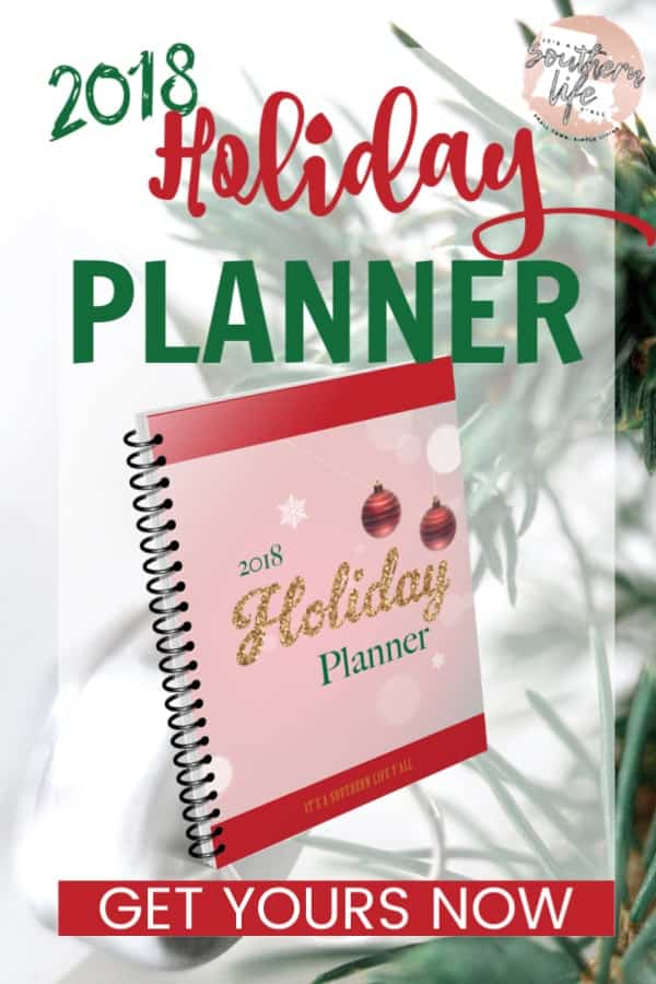 Get your 2018 Holiday Planner for a stress-free and organized holiday season. 60 page instant download printable planner to help you prioritize, budget, organize, plan menus, and so much more. Recipes, Christmas cards, and gift tags right at your fingertips.