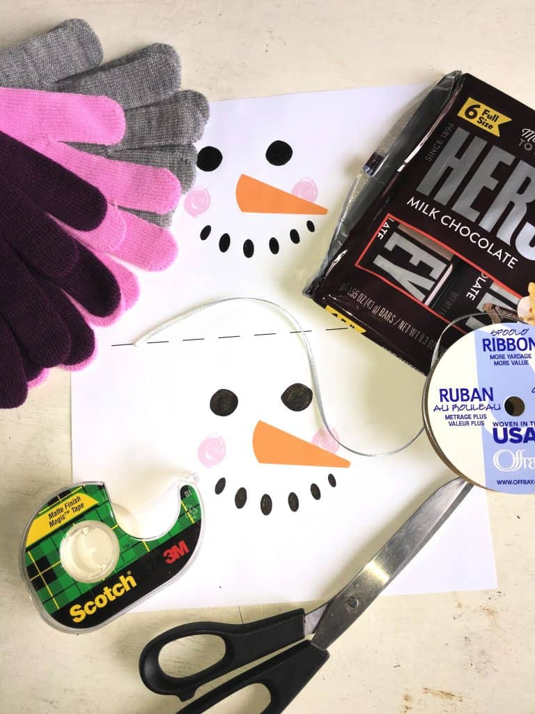 How to make a Snowman Candy Bar Christmas Craft
