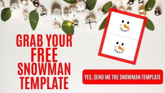 Snowman Template button