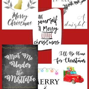 6 beautiful Christmas Printables to use in your home.