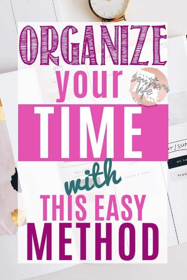 A simple yet effective way to organize your time for better time management and productive. Time blocking with this schedule and printable planner is easy when following my steps.