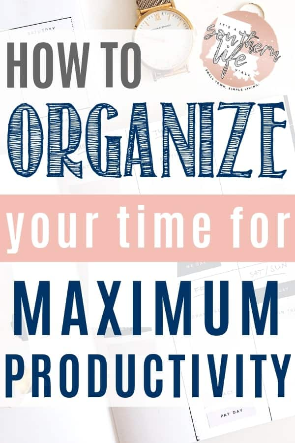 Get more done when you organize your time. Better time management leads to more productivity. Use my time blocking method and free printable.