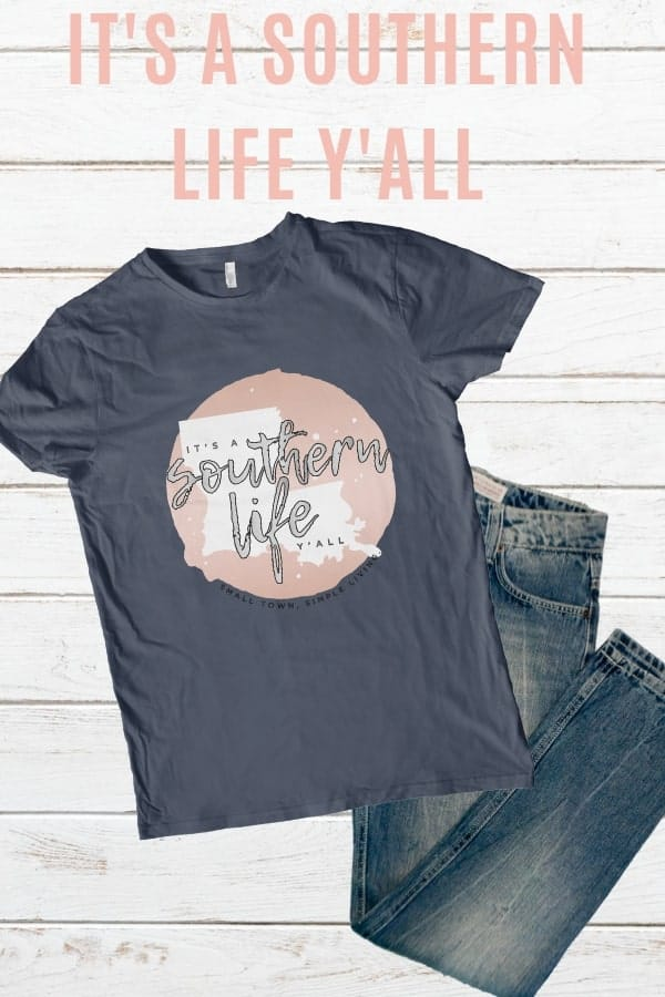 It's a Southern Life Y'all T-shirt mockup.