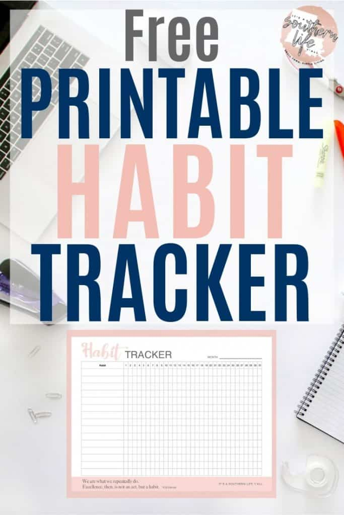 image about Daily Habit Tracker Printable named Totally free Printable Routine Tracker - Its a Southern Lifestyle Yall