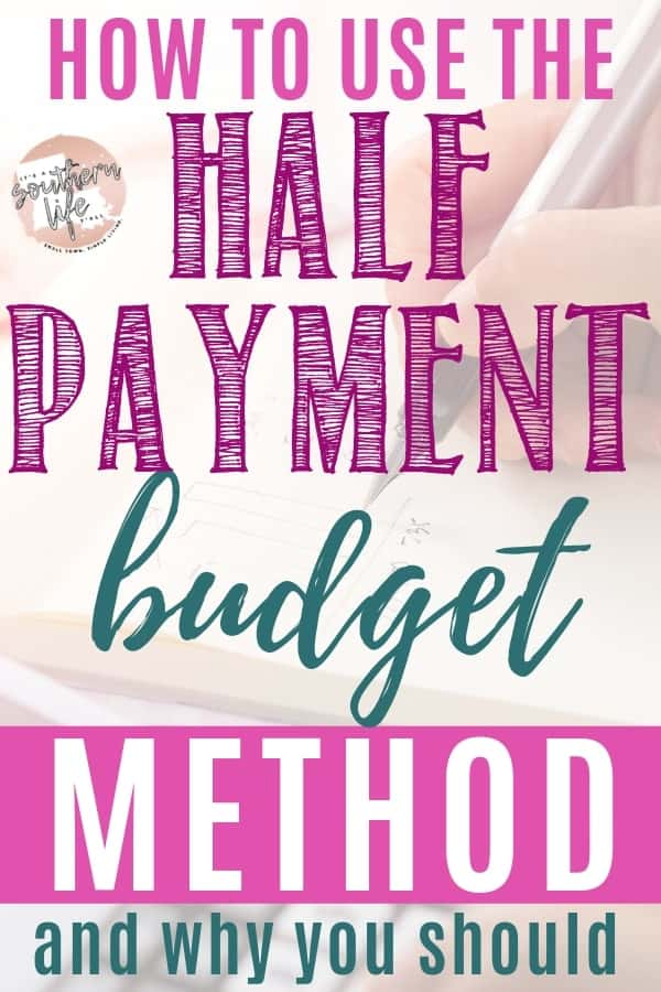 The half payment budget method, how to use it and why you should. Take control of your finances using this simple budget method. Budgeting is easy when you have a plan to make ends meet.