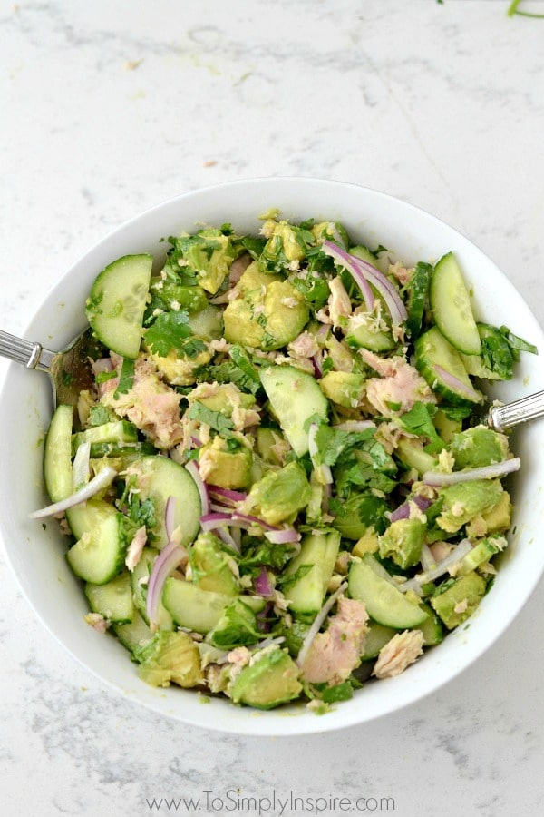 Avocado Tuna Salad from To Simply Inspire