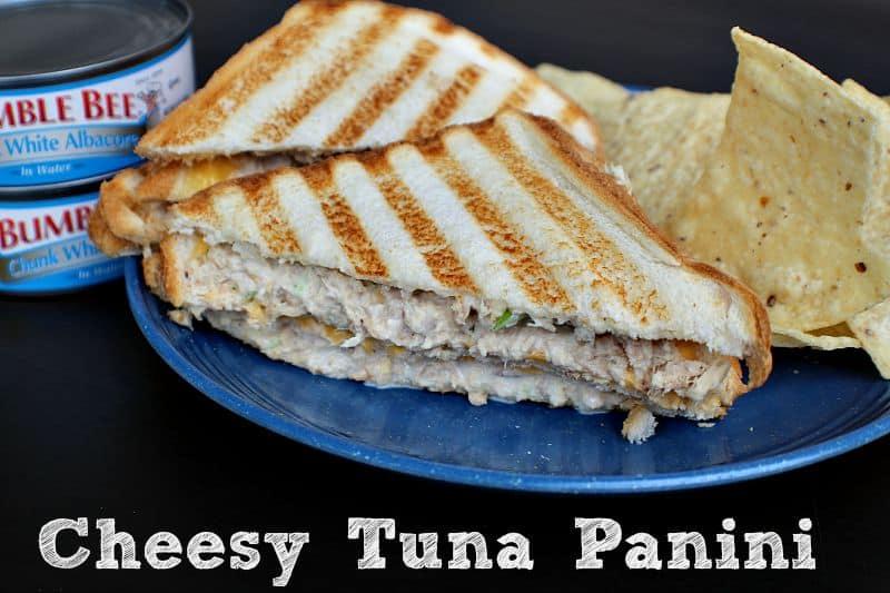 Cheesy Tuna Panini from Cook Eat Go