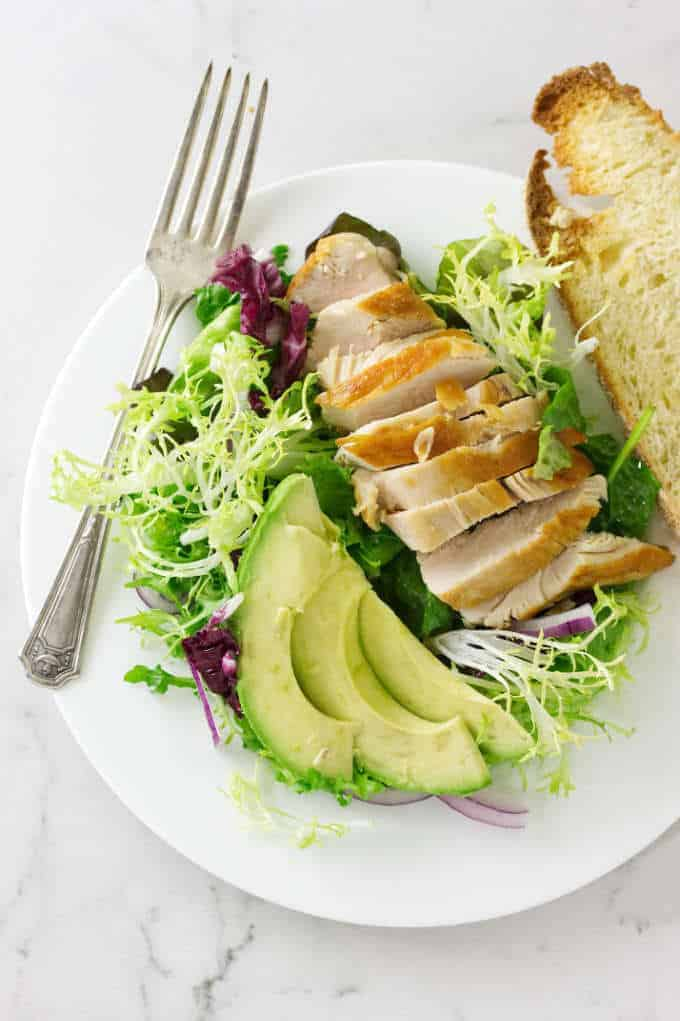 Green Salad with Avocado and Chicken from Savor the Best