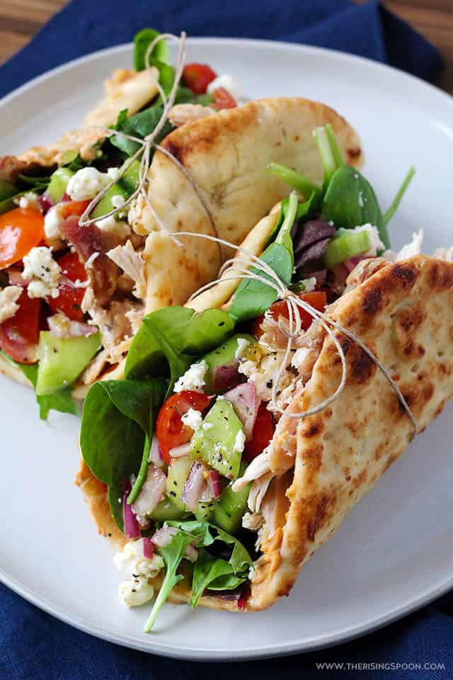 Chicken Hummus Naan Wraps from The Rising Spoon