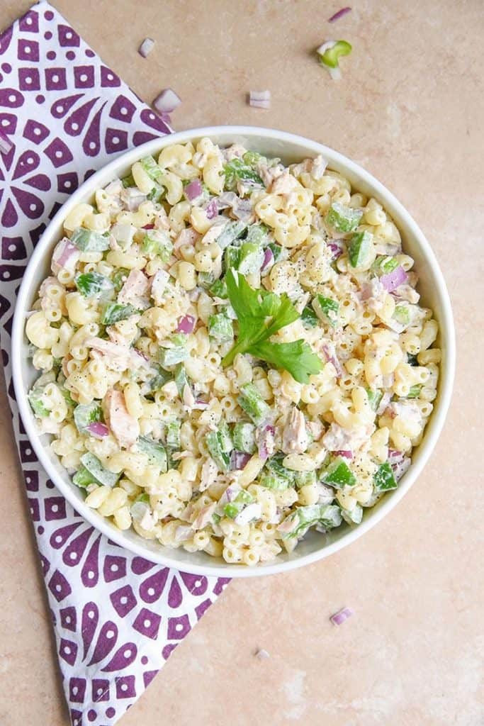Cold Tuna Macaroni Salad from Courtney's Sweets