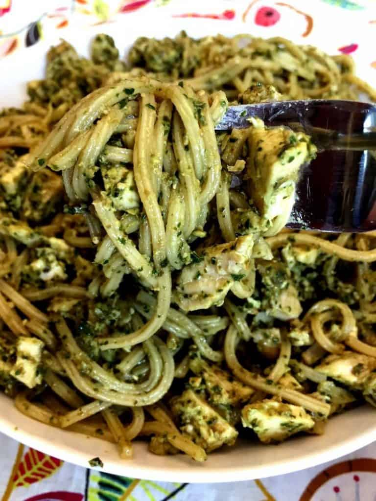 Easy Chicken Pesto Pasta 15 Minute Meal from Melanie Cooks