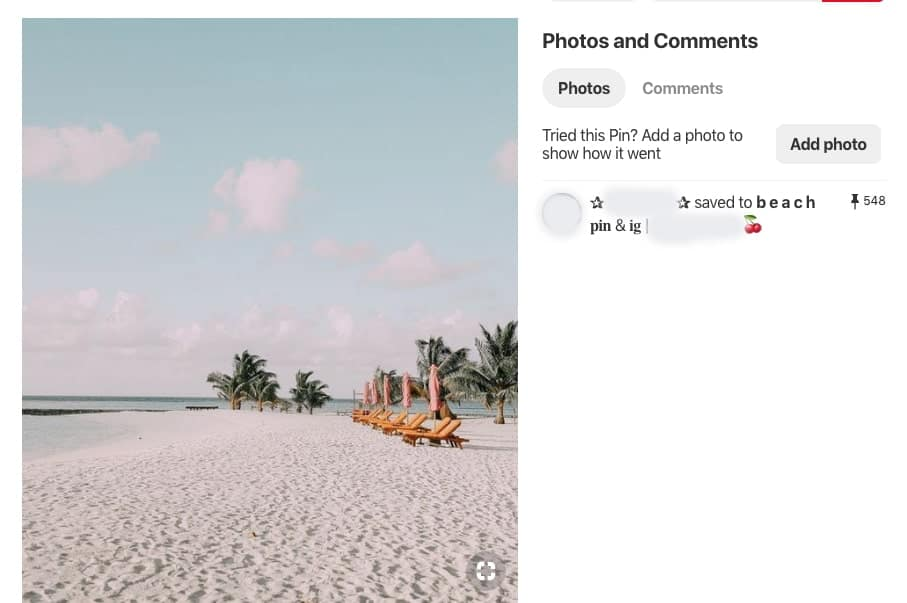 Regular Pinterest pin screenshot to show the difference between this and a rich pin.