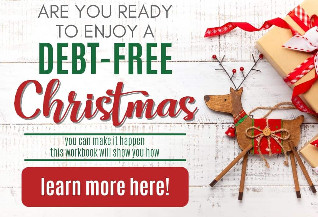 Clickable image to take you to the Debt-Free Christmas Workbook page.