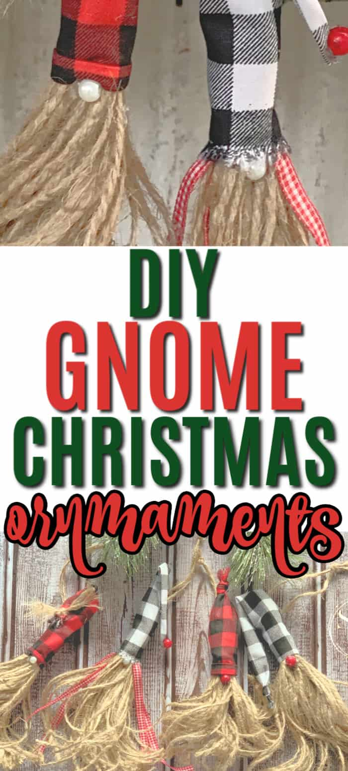 DIY Gnome Christmas Tree Ornaments.