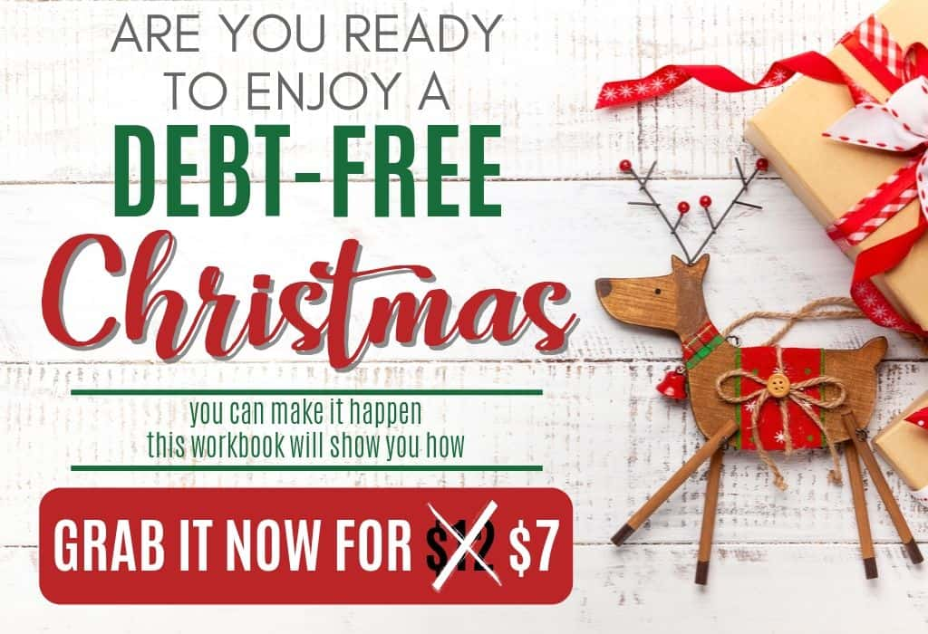 Debt Free Christmas Workbook Sale button