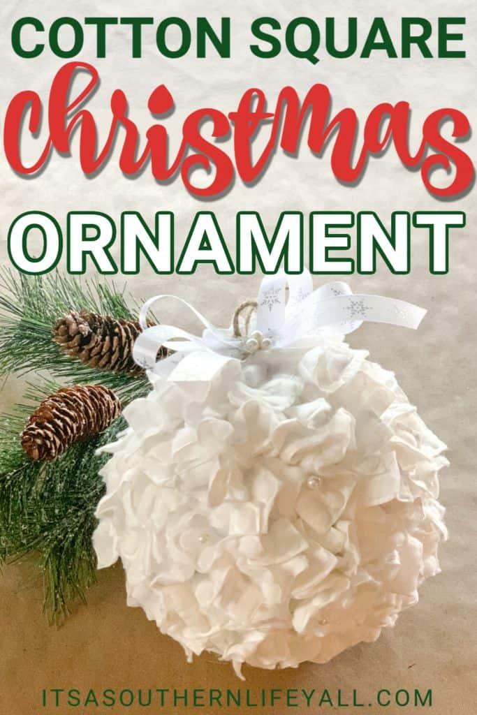 Cotton Square Christmas Ornament