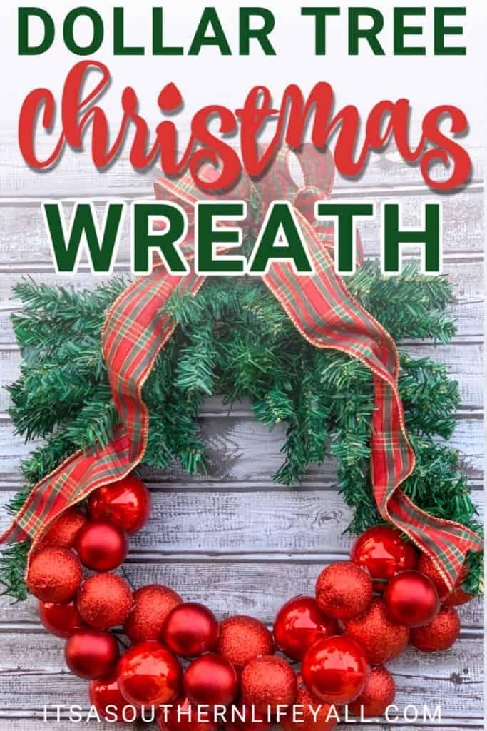 Dollar Tree Christmas Wreath DIY