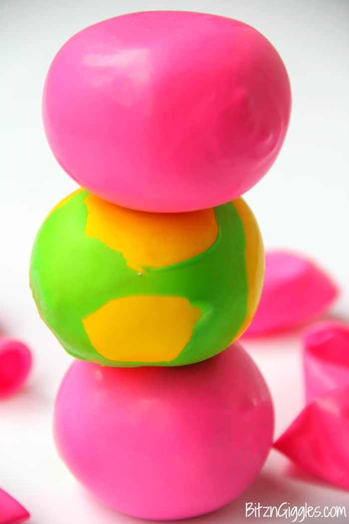 DIY kid's squishy stress ball