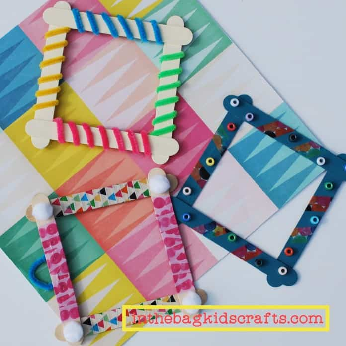Popsicle Picture Frame Craft
