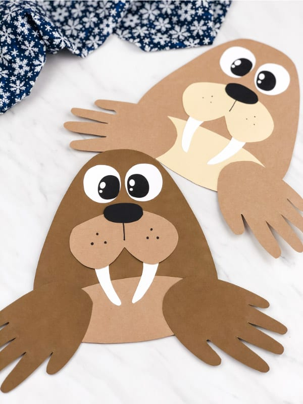 Walrus handprint craft.