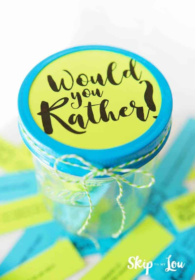 Would you rather jar of questions