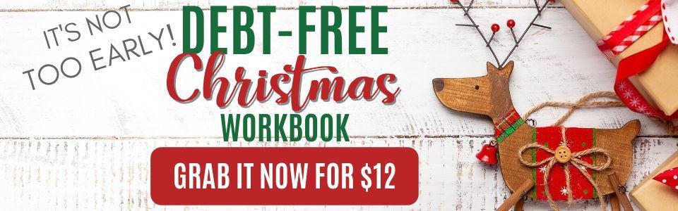 Debt free Christmas button SLIDER