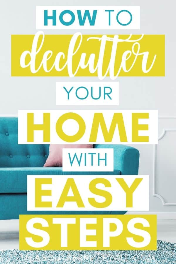 colorful sofa with how to declutter your home with easy steps